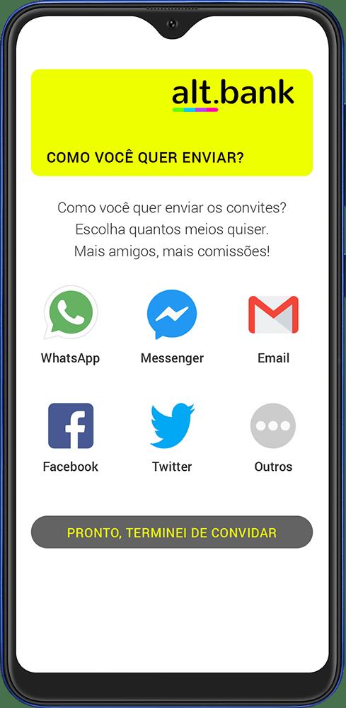 App alt.bank convite