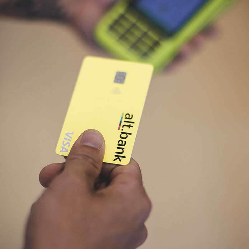 Transação com cartão alt.bank