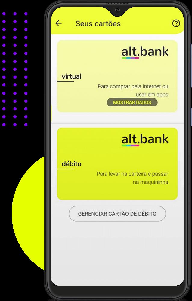 Cartão de débito alt.bank
